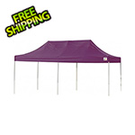 ShelterLogic 10x20 Straight Pop-up Canopy with Black Roller Bag (Purple Cover)