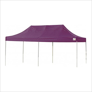 10x20 Straight Pop-up Canopy with Black Roller Bag (Purple Cover)