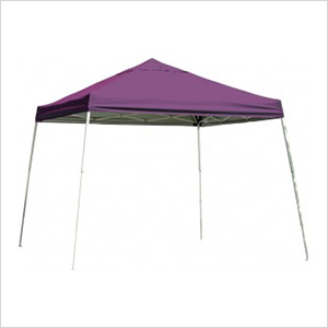 12x12 Slanted Pop-up Canopy with Black Roller Bag (Purple Cover)