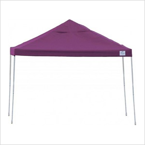 12x12 Straight Pop-up Canopy with Black Roller Bag (Purple Cover)
