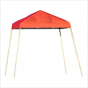 10x10 Slanted Pop-up Canopy with Black Roller Bag (Terracotta Cover)