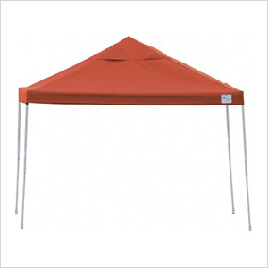 10x10 Straight Pop-up Canopy with Black Roller Bag (Terracotta Cover)