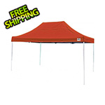 ShelterLogic 10x15 Straight Pop-up Canopy with Black Roller Bag (Terracotta Cover)