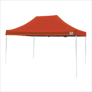 10x15 Straight Pop-up Canopy with Black Roller Bag (Terracotta Cover)