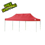 ShelterLogic 10x20 Straight Pop-up Canopy with Black Roller Bag (Terracotta Cover)