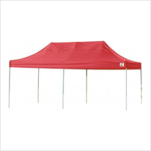 10x20 Straight Pop-up Canopy with Black Roller Bag (Terracotta Cover)