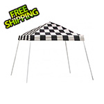 ShelterLogic 10x10 Slanted Pop-up Canopy with Black Roller Bag (Checkered Flag Cover)
