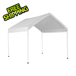 "ShelterLogic 10x10 Compact Canopy with 1-3/8"" 4-Leg Frame (White Cover)"