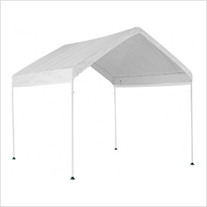 "10x10 Compact Canopy with 1-3/8"" 4-Leg Frame (White Cover)"