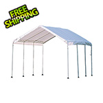"ShelterLogic 10x20 Compact Canopy with 1-3/8"" 8-Leg Frame (White Cover)"
