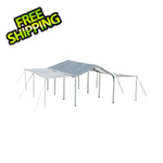 "ShelterLogic 10x20 Compact Canopy with 1-3/8"" 8-Leg Frame with Extension Kit (White Cover)"