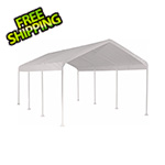 "ShelterLogic 10x20 Compact Canopy with 2"" 8-Leg Frame (White Cover)"