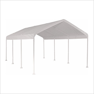 """10x20 Compact Canopy with 2"""" 8-Leg Frame (White Cover)"""