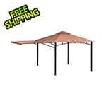 ShelterLogic 11x11 Redwood Gazebo with Square Tube (Bronze Cover)