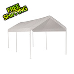 "ShelterLogic 10x20 Compact Canopy with 1-3/8"" 6-Leg Frame (White Cover)"