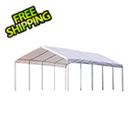 "ShelterLogic 12x30 Canopy with 2"" 12-Leg Frame (White Cover)"