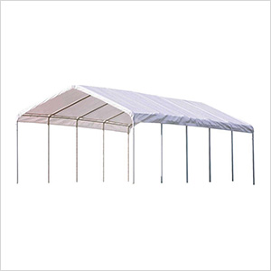 """12x30 Canopy with 2"""" 12-Leg Frame (White Cover)"""