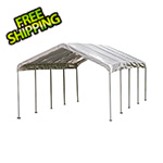 "ShelterLogic 12x26 Canopy with 2"" 10-Leg Frame (White Cover)"
