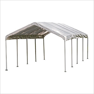 """12x26 Canopy with 2"""" 10-Leg Frame (White Cover)"""