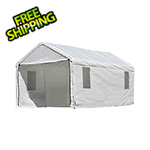 "ShelterLogic 10x20 Canopy Enclosure Kit with Windows for 1-3/8"" Frame (White Cover)"
