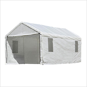 "10x20 Canopy Enclosure Kit with Windows for 1-3/8"" Frame (White Cover)"
