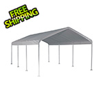 "ShelterLogic 12x20 Canopy with 2"" 8-Leg Frame (White Cover)"