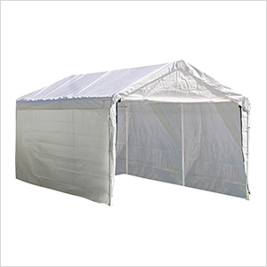 """12x20 Canopy Enclosure Kit  for 2"""" Frame (White Cover)"""