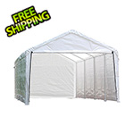 "ShelterLogic 12x26 Canopy Enclosure Kit  for 2"" Frame (White Cover)"
