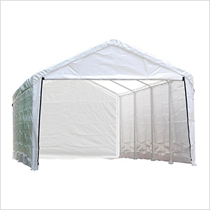 "12x26 Canopy Enclosure Kit  for 2"" Frame (White Cover)"