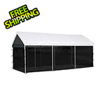 "ShelterLogic 10x20 Canopy Screen Kit for 1-3/8"" and 2"" Frame (Black Cover)"