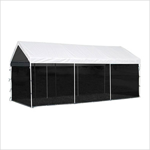"""10x20 Canopy Screen Kit for 1-3/8"""" and 2"""" Frame (Black Cover)"""