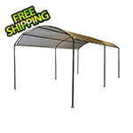 "ShelterLogic 10x18 Monarc Canopy with 2"" Steel Black Frame (Sandstone Cover)"