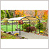 """10x18 Monarc Canopy with 2"""" Steel Black Frame (Sandstone Cover)"""
