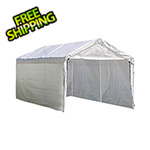 "ShelterLogic 10x20 Canopy Enclosure Kit for 2"" Frame (White Cover)"