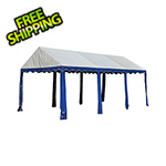 ShelterLogic 10x20 Party Tent with 8 Leg Steel Frame (Blue/White Cover)