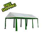 ShelterLogic 10x20 Party Tent with 8 Leg Steel Frame (Green/White Cover)