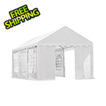 ShelterLogic 10x20 Party Tent with 8 Leg Steel Frame with Windows (White Cover)