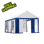 ShelterLogic 10x20 Party Tent with 8 Leg Steel Frame with Windows (Blue/White Cover)