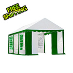 ShelterLogic 10x20 Party Tent with 8 Leg Steel Frame with Windows (Green/White Cover)