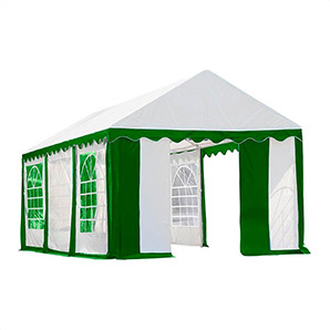 10x20 Party Tent With 8 Leg Steel Frame With Windows (green/white Cover)