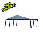 ShelterLogic 20x20 Party Tent with 8 Leg Steel Frame (Blue/White Cover)