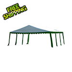 ShelterLogic 20x20 Party Tent with 8 Leg Steel Frame (Green/White Cover)