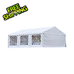 ShelterLogic 20x20 Party Tent with 8 Leg Steel Frame with Windows (White Cover)
