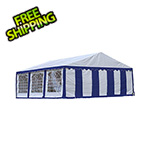 ShelterLogic 20x20 Party Tent with 8 Leg Steel Frame with Windows (Blue/White Cover)