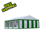 ShelterLogic 20x20 Party Tent Enclosure Kit with Windows (Green/White Cover)