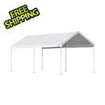 "ShelterLogic 10x20 Accelaframe Canopy with 1-3/8"" 6-Leg Frame (White Cover)"
