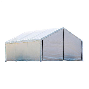 18x40 Canopy Enclosure Kit (White Cover)