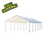 "ShelterLogic 18x40 Canopy with 2"" 14-Leg Frame (White Cover)"
