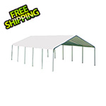 "ShelterLogic 18x30 Canopy with 2"" 12-Leg Frame (White Cover)"