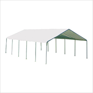 """18x30 Canopy with 2"""" 12-Leg Frame (White Cover)"""